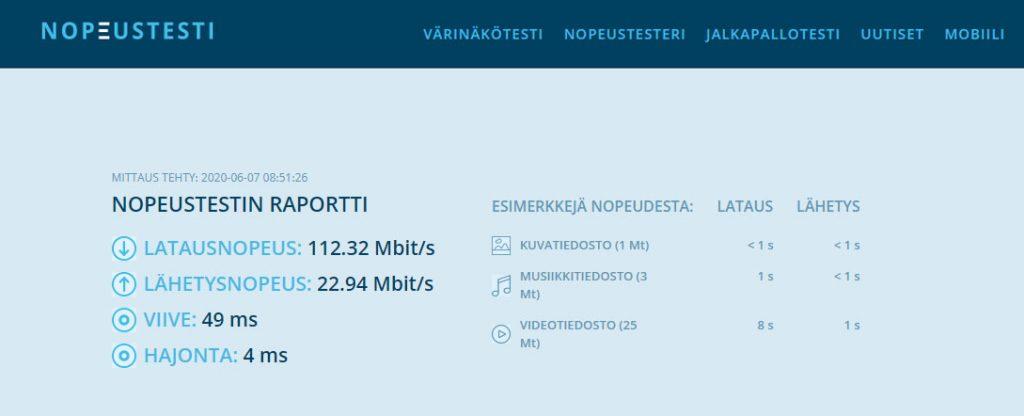 Nord  VPN nopeus testattuna suomessa