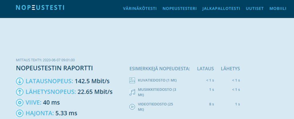 Proton  VPN nopeus testattuna suomessa